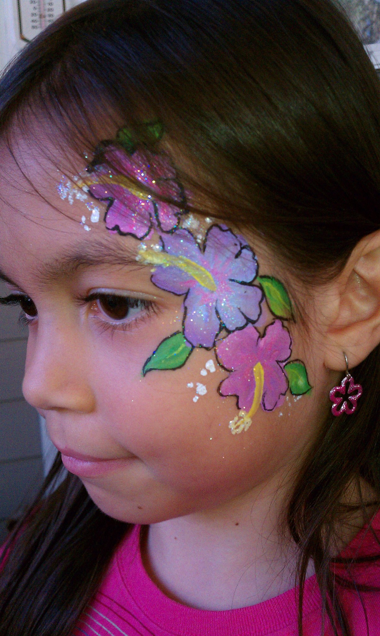 Flower side face