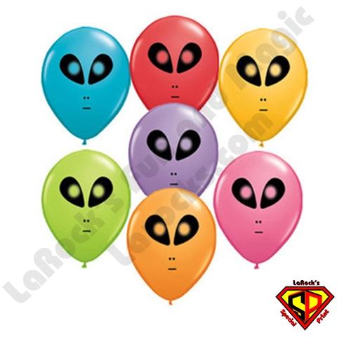 Alien- Printed Round