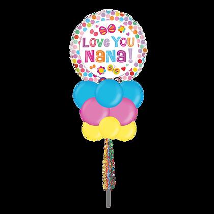 Love you Nana Large Party Pole