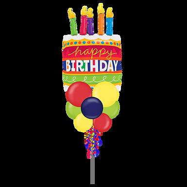 HBD Cake Jumbo Party Pole