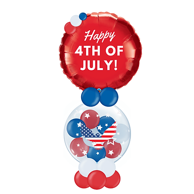 Patriotic Stuffed Pop-A-Balloon Gift