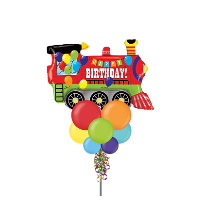Jumbo Party Pole- Birthday Train
