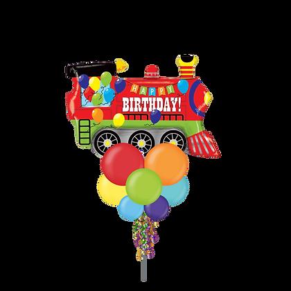 Jumbo Party Pole- Birthday Train
