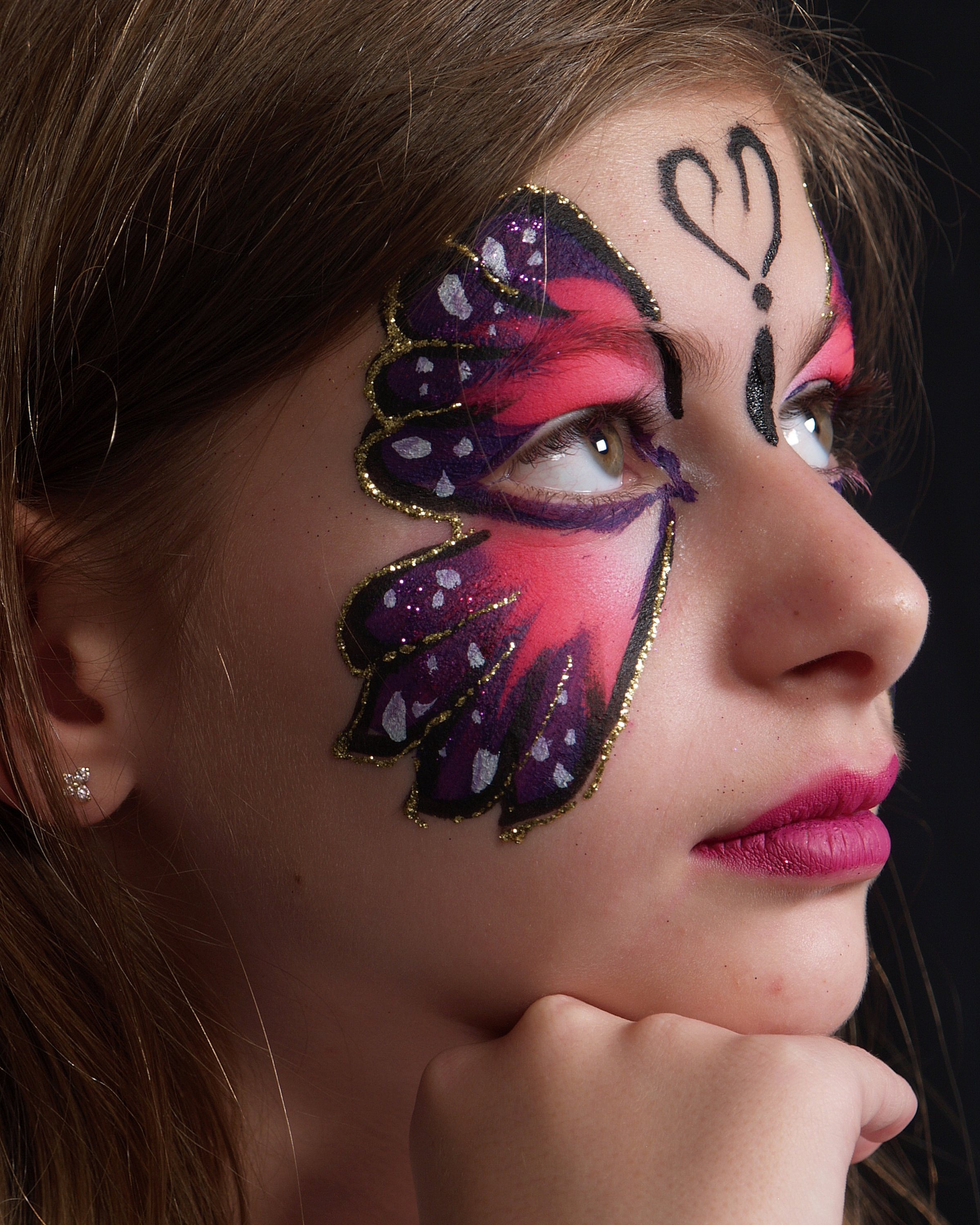 Butterfly Face Painting 05