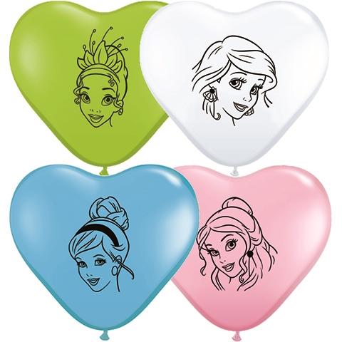 Disney Princess- Printed Hearts