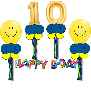 Double Digit HBD Smiley Group