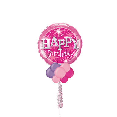 "Jumbo Party Pole- 36"" Pink HBD"