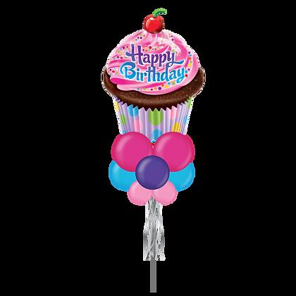 HBD Cupcake Jumbo Party Pole