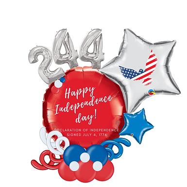 Patriotic Balloon Marquee Gift/Centerpiece
