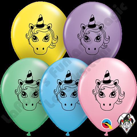 Unicorn- Printed Round