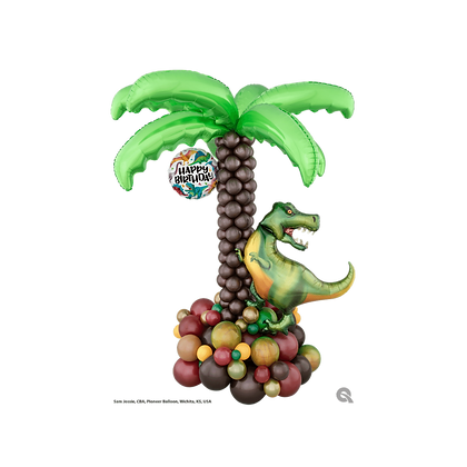Dinosaur Palm Tree Balloon Sculpture