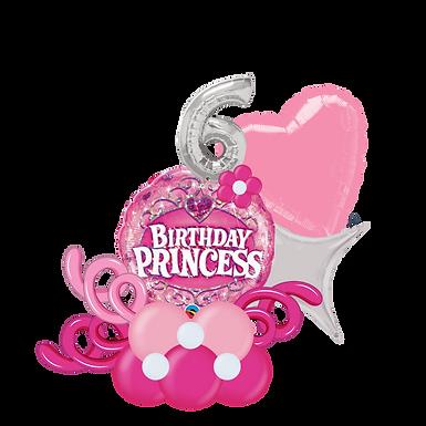 Birthday Princess Balloon Marquee Gift
