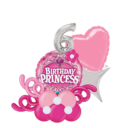 Birthday Princess Balloon Marquee Gift