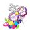 Thumbnail: Butterfly Happy Birthday Balloon Marquee Gift