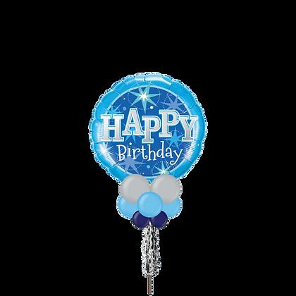 HBD Blue Jumbo Party Pole