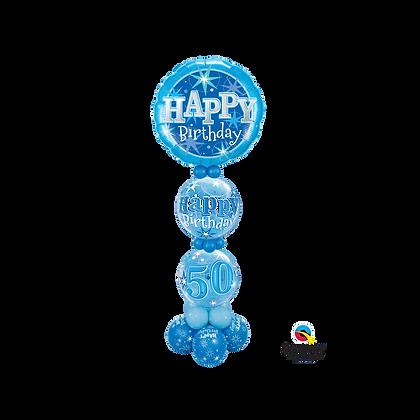 Jumbo Blue Happy Birthday Column