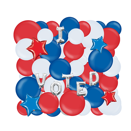 Patriotic Organic Balloon Wall