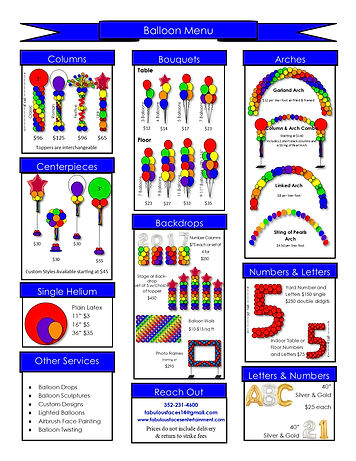 Popular Balloon Decor Prices