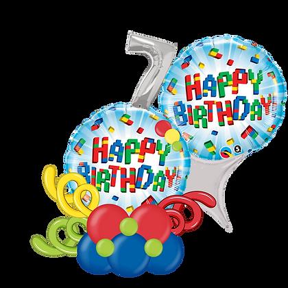 Lego/Colorful Blocks Happy Birthday Balloon Marquee Gift