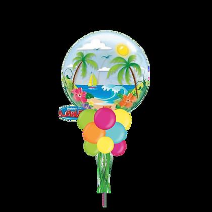 Tropical Island Beach Bubble Party Pole