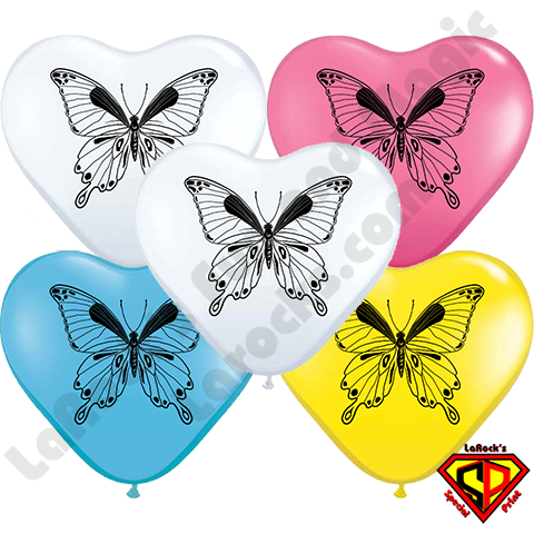 Butterfly- Printed Heart