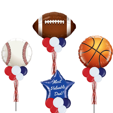 Sports Most Valuable Dad - Fathers Day Party Pole Group