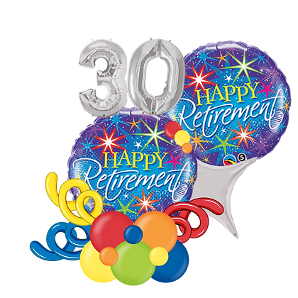 Happy Retirement Balloon Marquee Gift
