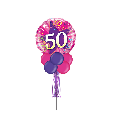 50 Purple Star Large Party Pole