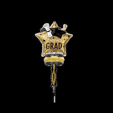 Jumbo Foil Party Pole-  Congrats Grad