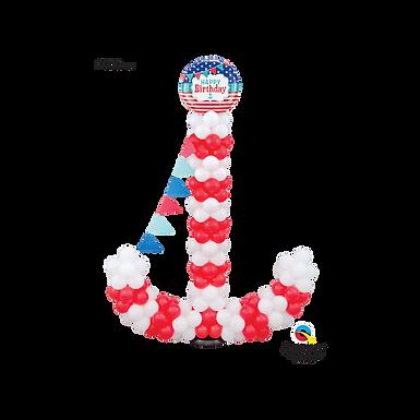 Nautical Anchor Balloon Sculpture