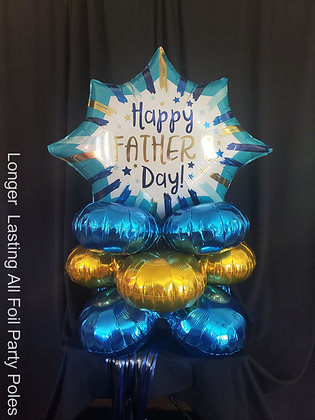 Father's Day All Foil Party Pole Yard Art