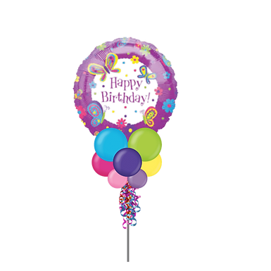 Butterfly Happy Birthday Large Party Pole