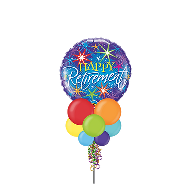 Happy Retirement Fireworks Large Party Pole