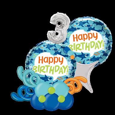 Shark Happy Birthday Balloon Marquee Gift