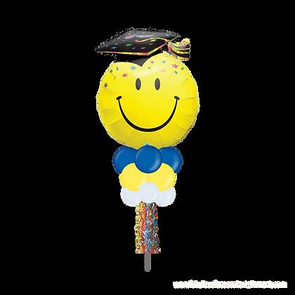 Jumbo Party Pole-  Graduation Smiley Face