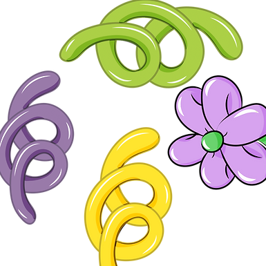 Detail ADD ON- 3 curly Q's and a balloon flower embellishment
