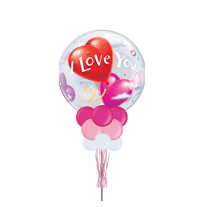 I Love You Heart- Large Party Pole