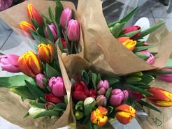 Bouquet de tulipes 3€50