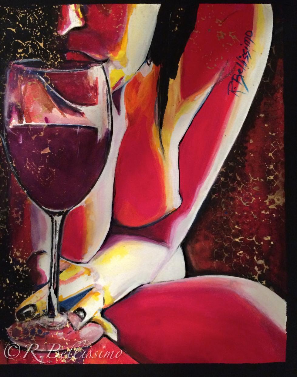 Liz and the Wine Glass