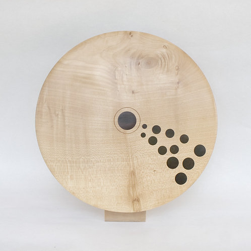 Inlay discus in sycamore and African Blackwood