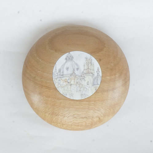 Gift boxed paperweight with Oxford picture