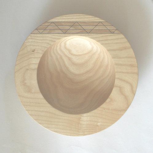 Inlaid ash bowl