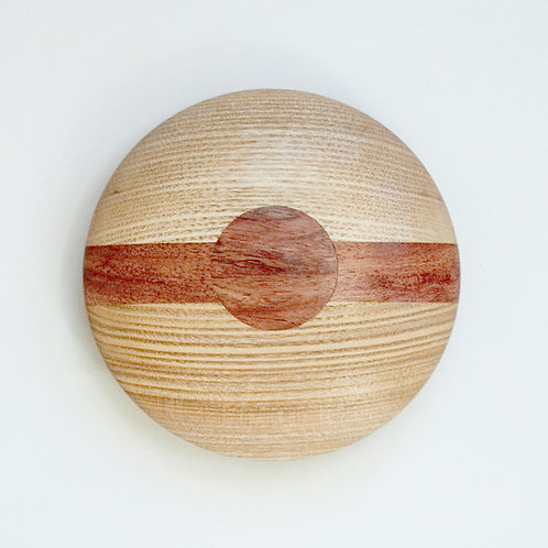 Gift-boxed paperweight in ash and bubinga