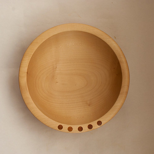 Large salad bowl in sycamore
