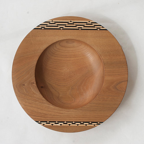 Inlaid elm bowl