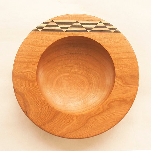 Small inlaid bowl in cherry