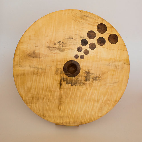 Inlay discus in horse chestnut and elm