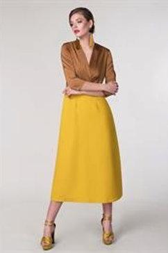 3/4 Sleeve Wrap Slit Dress