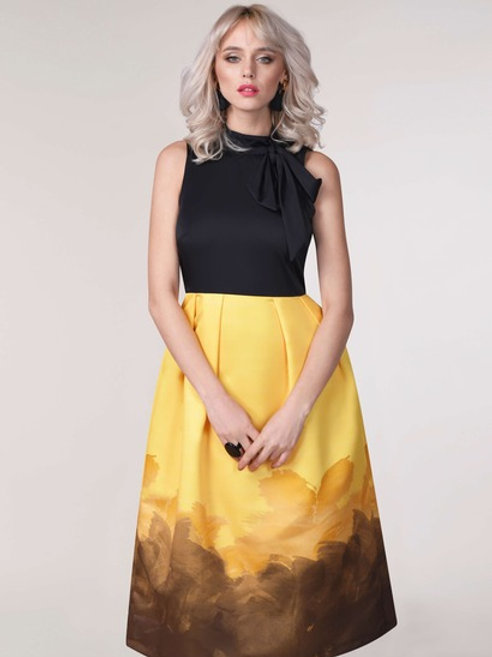 Yellow 2 in 1 Dress