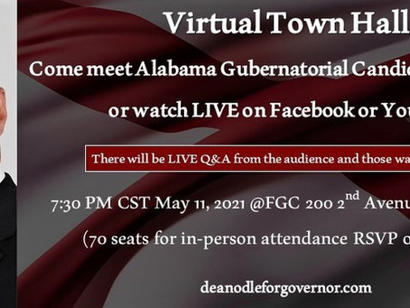 Virtual Town Hall Tuesday Night